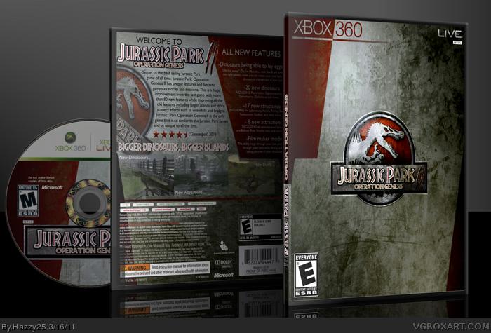 jurassic park operation genesis ii xbox 360 box art cover