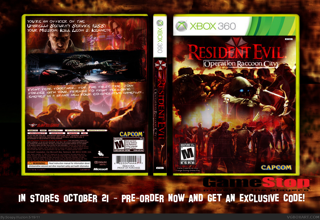 Viewing full size Resident Evil Operation Racoon City box