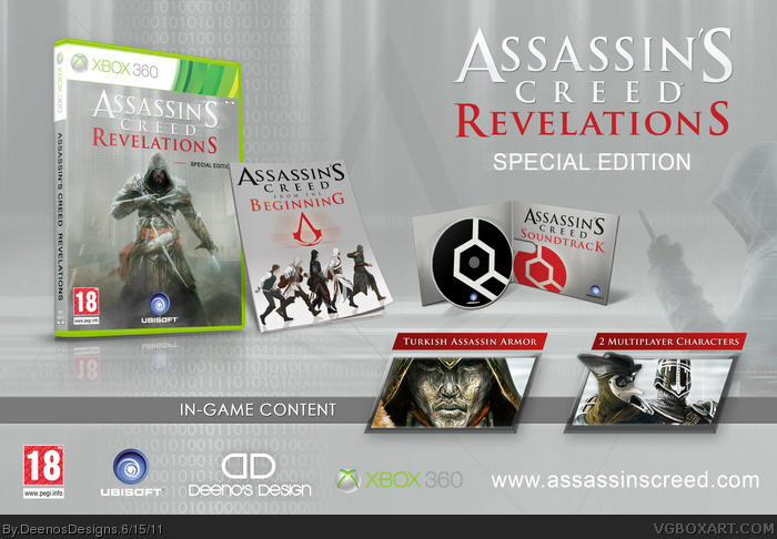 Assassin s creed revelations special edition xbox 360 box art cover