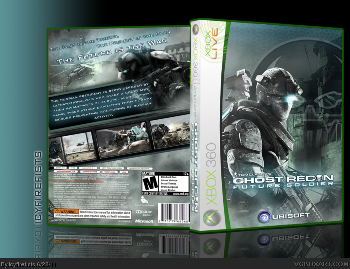 Room Cover Ghost Recon Ghost Recon Future Soldier Wii: Ghost Recon: Future Soldier Xbox 360 Box Art Cover By
