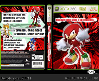 Knuckles The Echidna Gurdian Of the Master Emerald box cover