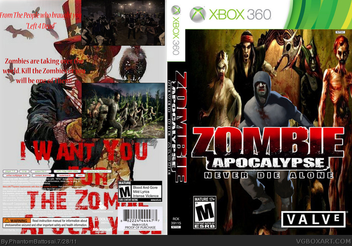 Zombie Games For Xbox 360 : Zombie apocalypse xbox box art cover by phantombattosai