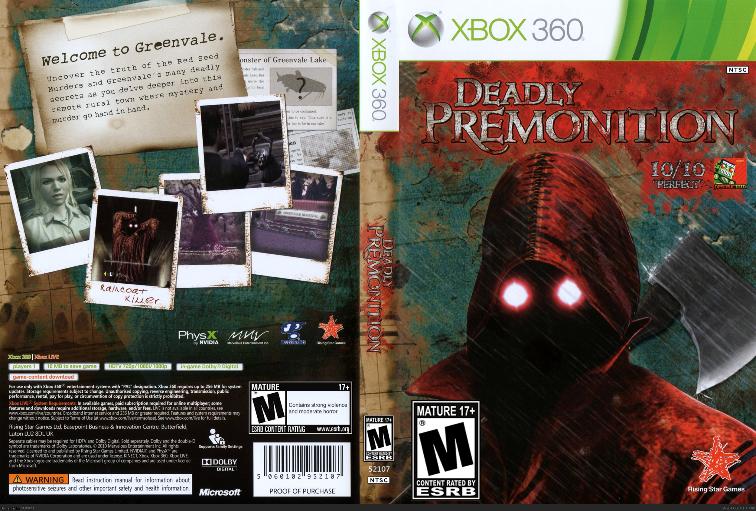 Deadly Premonition box cover