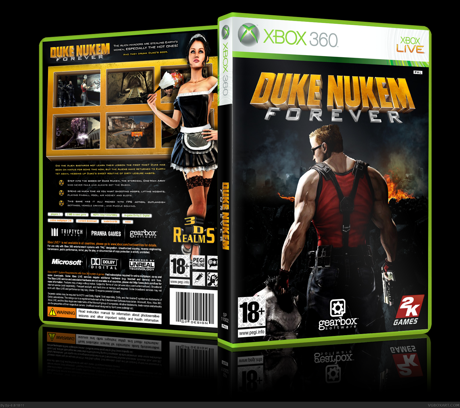 Duke Nukem Forever box cover
