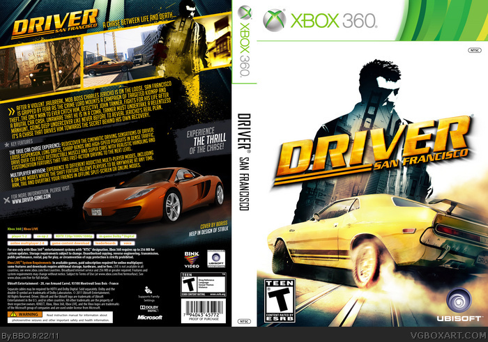 Driver San Francisco Xbox 360 Box Art Cover By Bbo