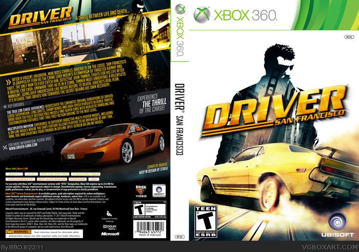 Driver San Francisco Xbox 360 Box Art Cover by BBO