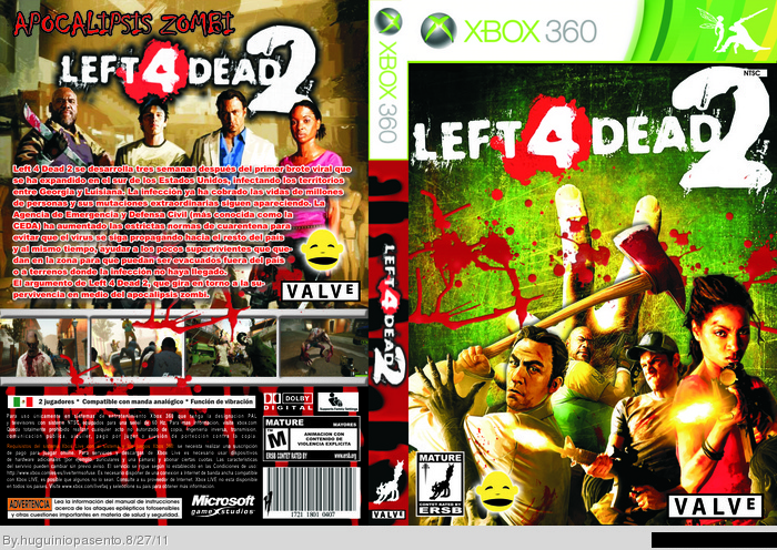 Left 4 Dead 2 Xbox 360 Box Art Cover by huguiniopasento