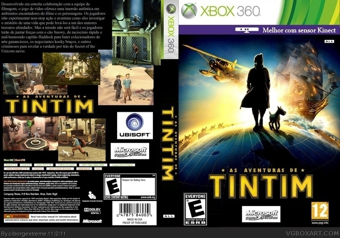 The Adventures Of Tintin Xbox 360 Box Art Cover By Ciborgextreme