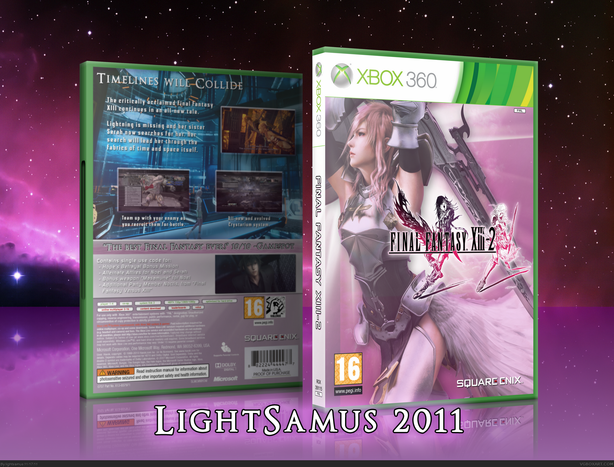 Final Fantasy XIII-2 box cover