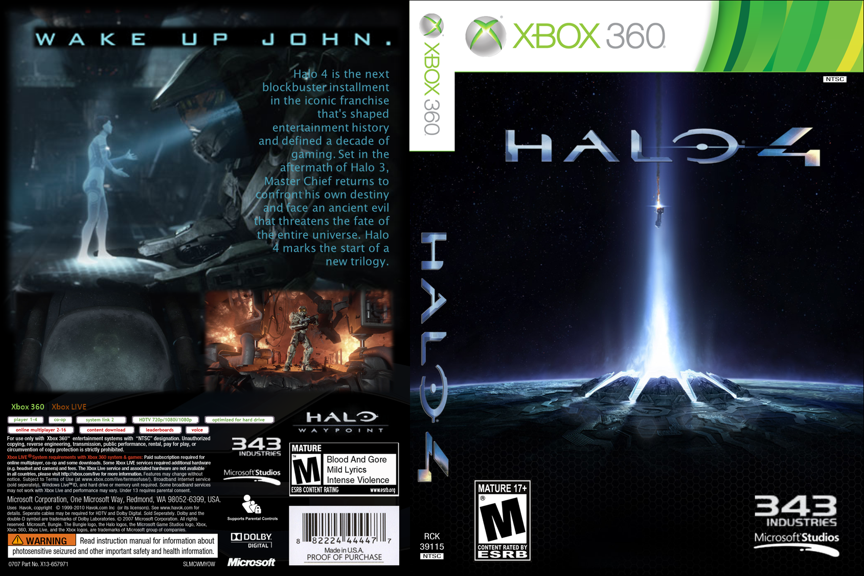 halo 4 xbox 360 box art cover by ironwill8 rh vgboxart com Halo Cover Halo Drawings