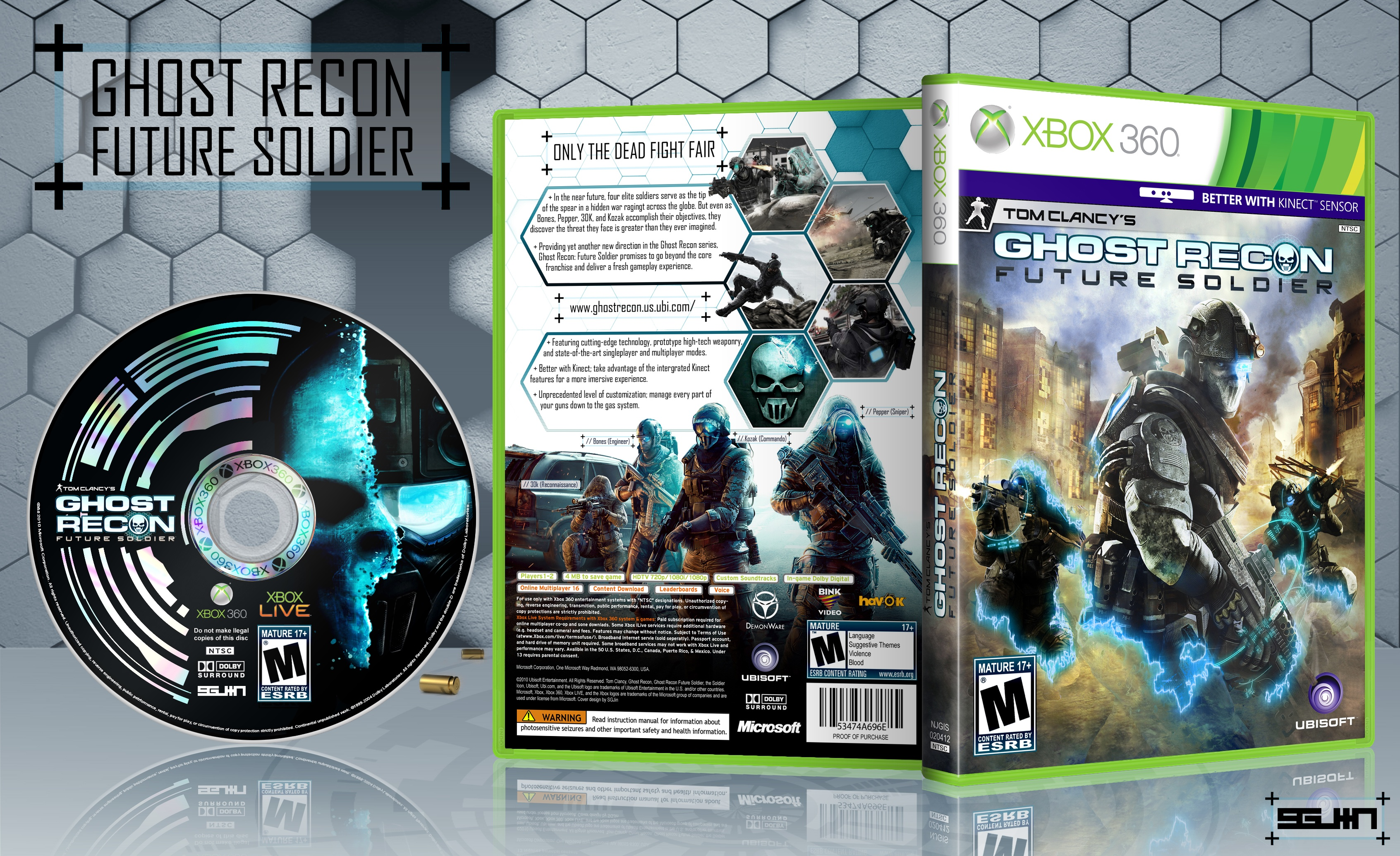 Ghost Recon: Future Soldier Xbox 360 Box Art Cover by SGJin
