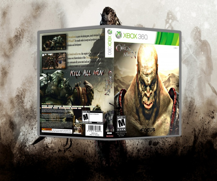 Xbox 360 » Of Orcs And Men Box Cover