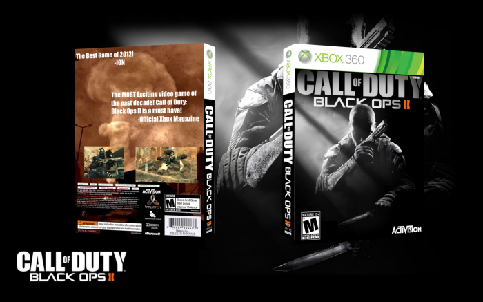 call of duty black ops ii xbox 360 box art cover by probenji. Black Bedroom Furniture Sets. Home Design Ideas