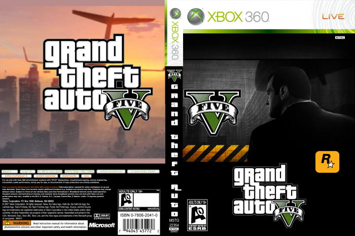 Grand Theft Auto 5 box art cover