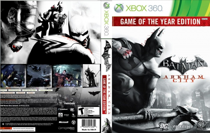Batman Arkham City Game of the year Edition Xbox 360 Box Art Cover by