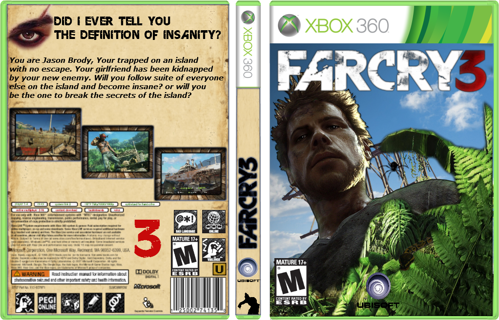 Far Cry 3 Xbox 360 Box Art Cover by Dapperhayden007