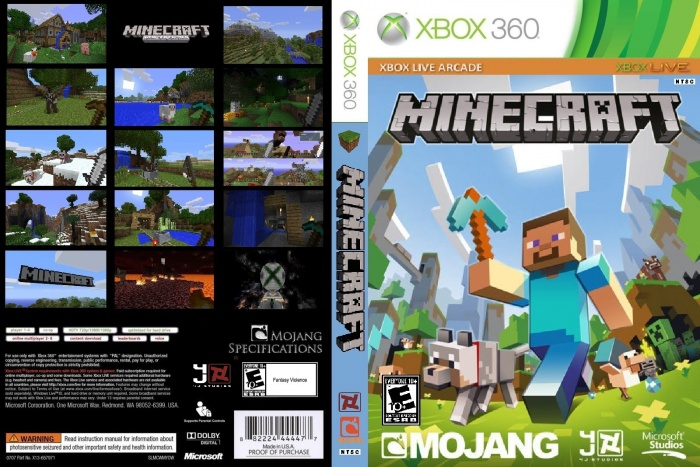 Book Cover Craft Xbox : Minecraft xbox edition box art cover by
