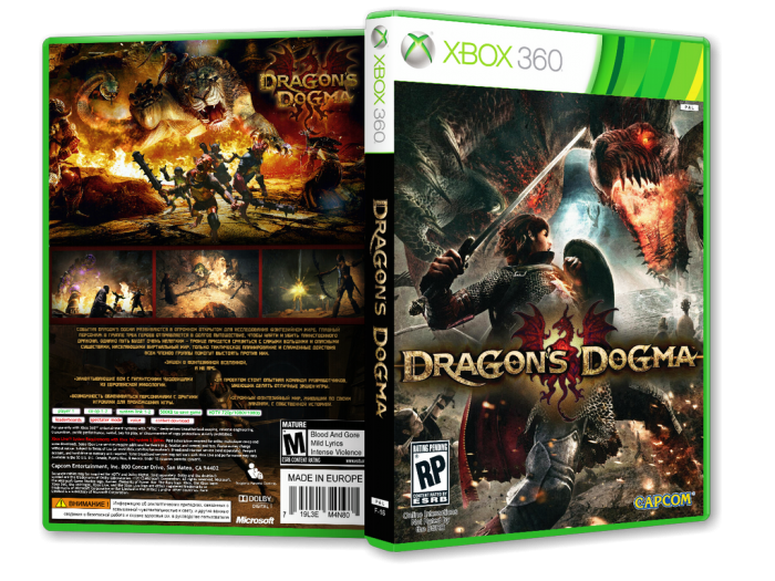 Dragon's Dogma box art cover