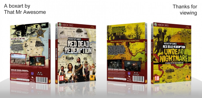 Red Dead Redemption & Undead Nightmare box art cover