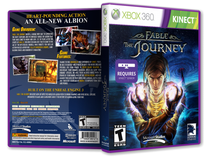 Fable: The Journey box art cover