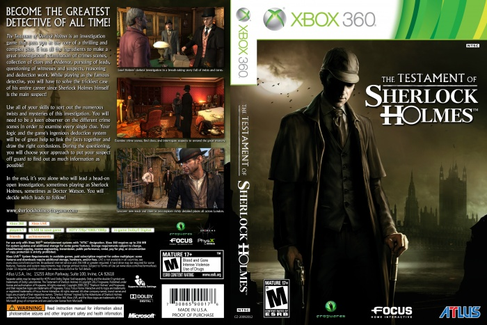 This is... The Testament of Sherlock Holmes (Xbox 360 ...