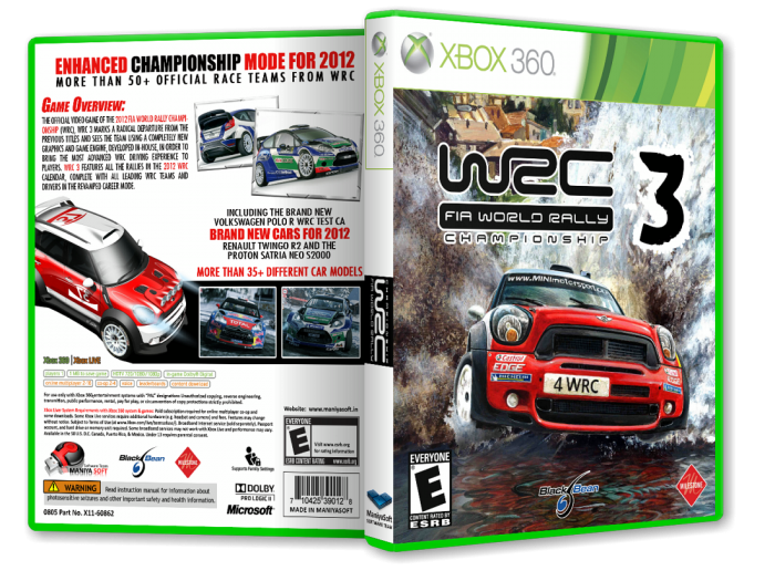 wrc 3 fia world rally championship xbox 360 box art cover by payam mazkouri. Black Bedroom Furniture Sets. Home Design Ideas