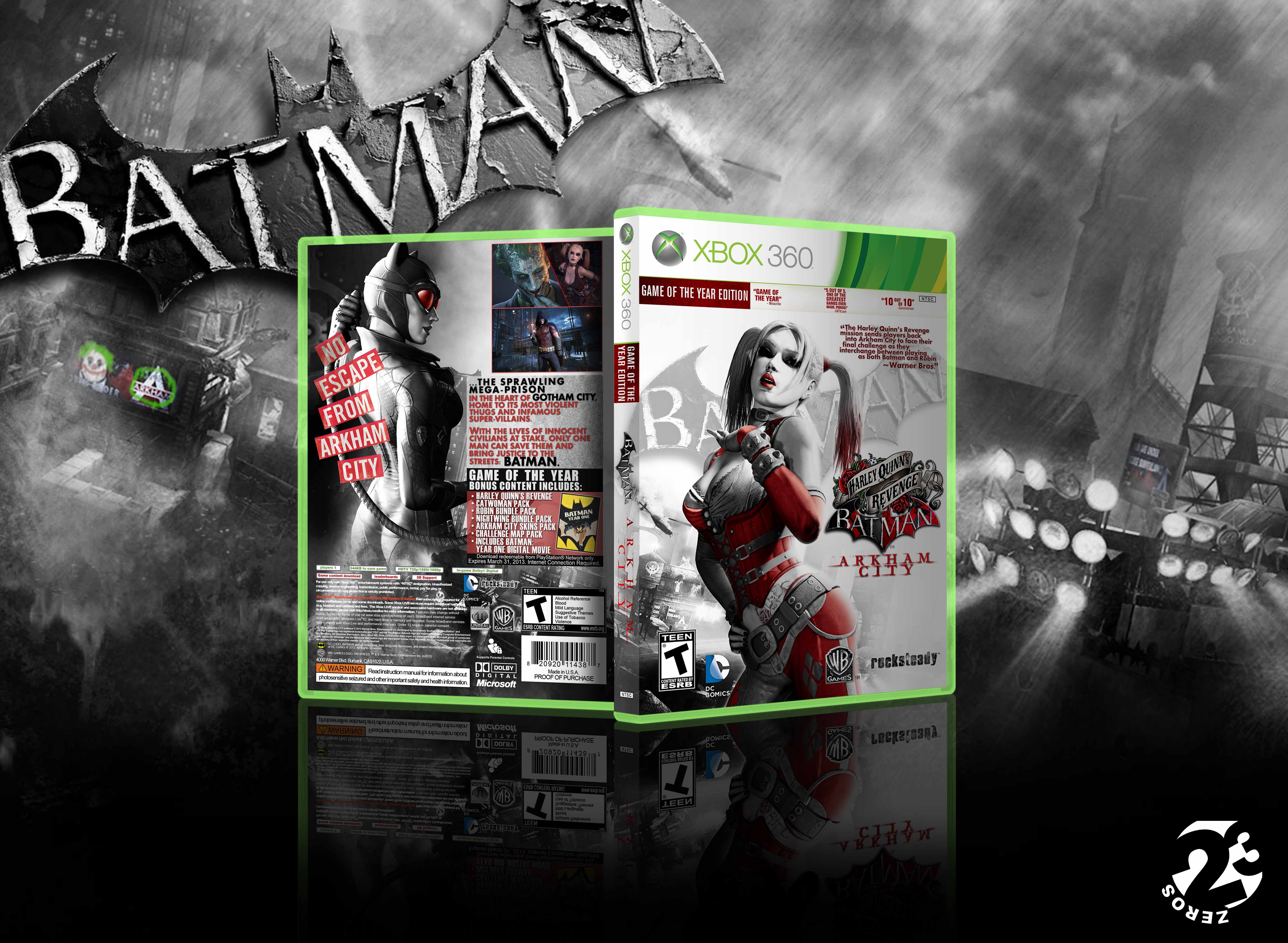 Viewing full size Batman Arkham City Game of the year Edition box