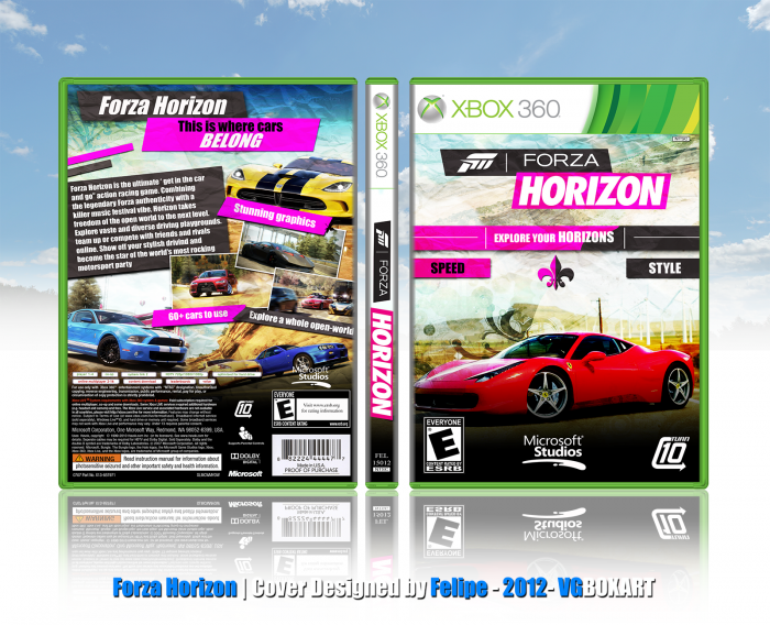 forza horizon xbox 360 box art cover by felipe. Black Bedroom Furniture Sets. Home Design Ideas