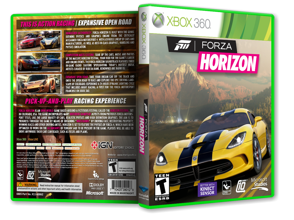 Viewing Full Size Forza Horizon Box Cover Payam Mazkouri Back