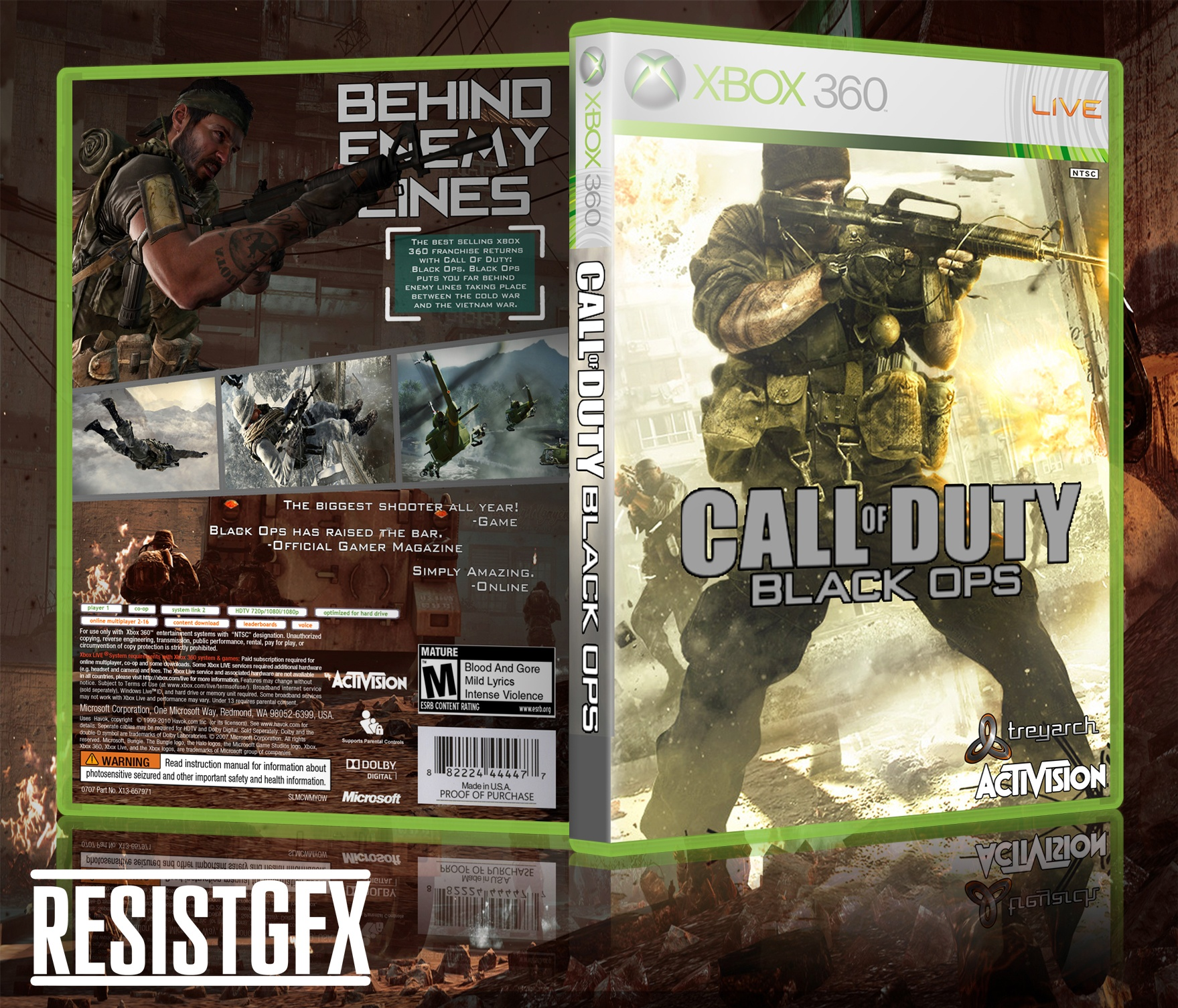Viewing Full Size Call Of Duty Black Ops Box Cover