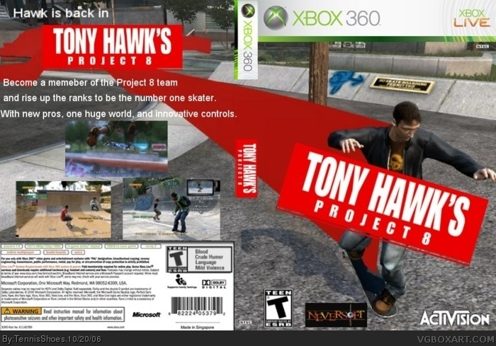 tony hawk project 8 Tony hawk's project 8 features a brand new engine, built from the ground up  specifically for next-gen consoles, and, unfortunately, proves that.