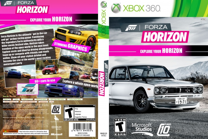 forza horizon xbox 360 box art cover by aofro mapleshop. Black Bedroom Furniture Sets. Home Design Ideas
