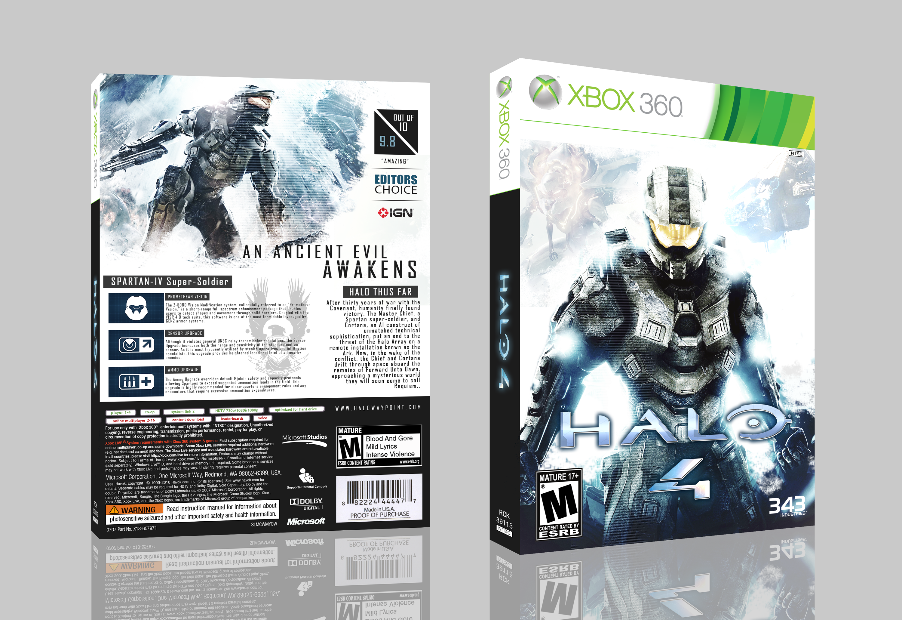 Viewing full size Halo 4 box cover