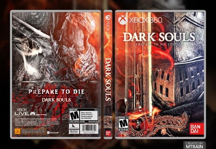 Dark Souls Prepared To Die Edition Xbox 360 Box Art Cover By Mtrain