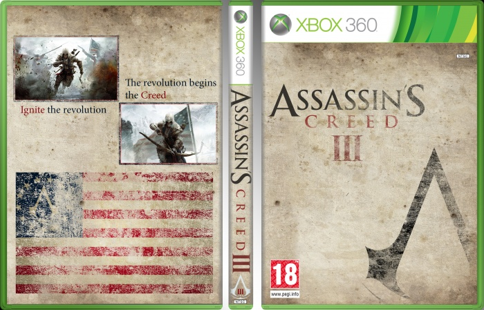 Assasin's Creed 3 box art cover