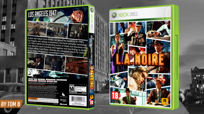 L A Noire Xbox 360 Box Art Cover By Tomb