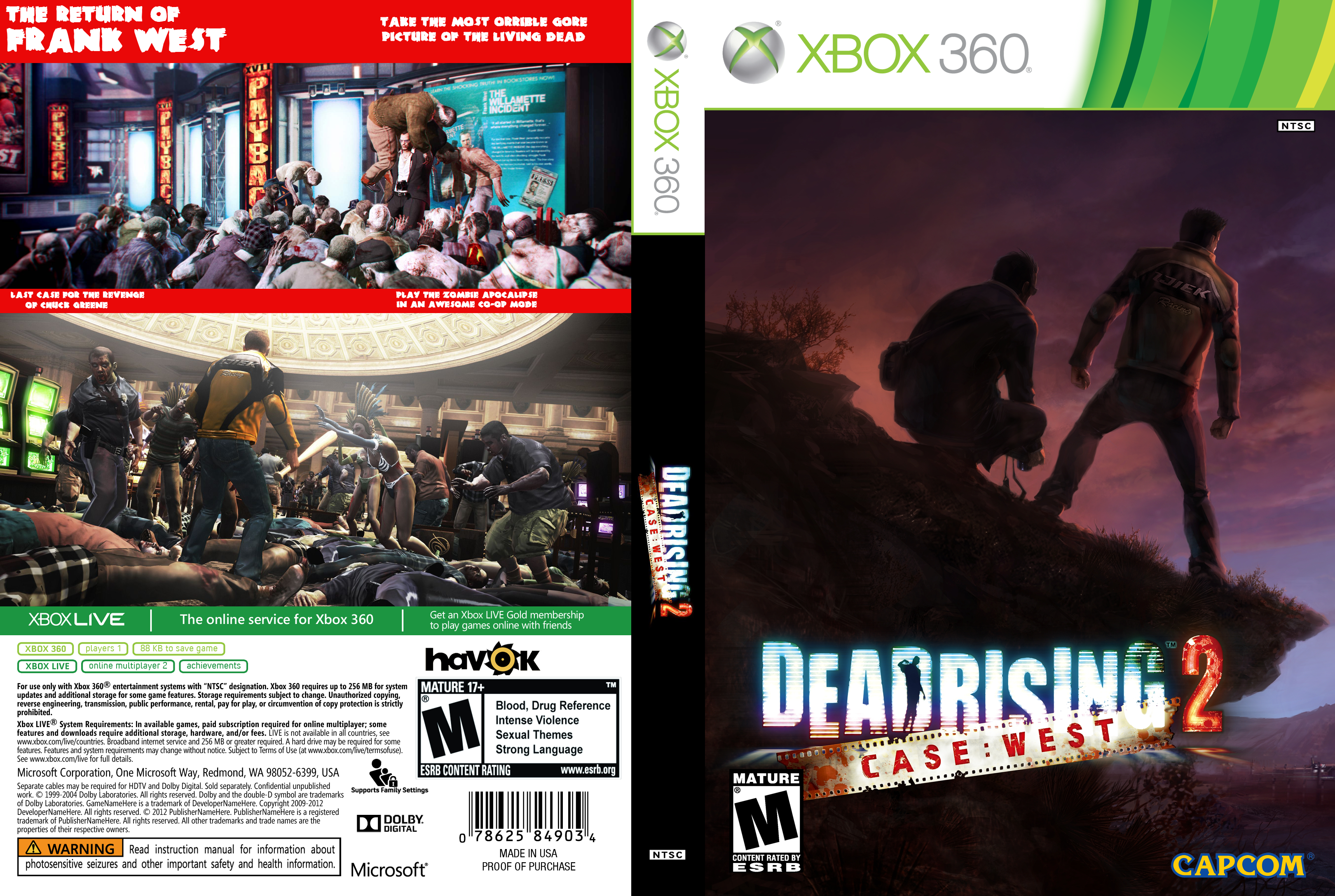 Dead Rising 2: Case West box cover