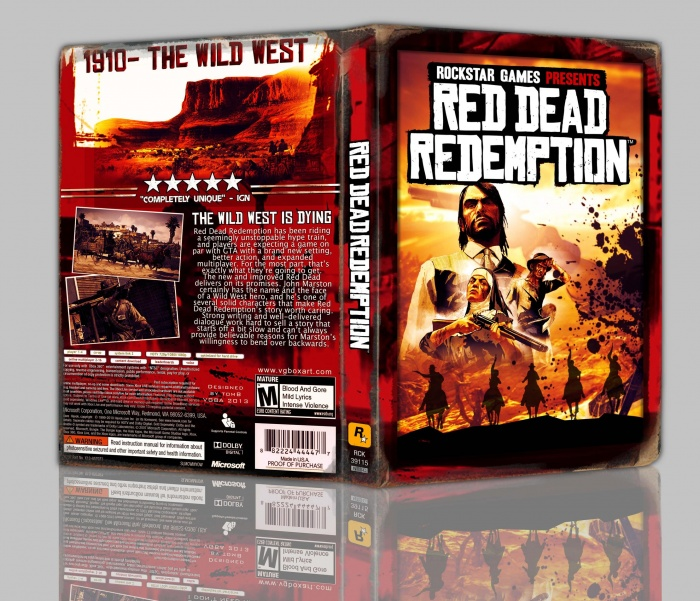 Red Dead Redemption box art cover