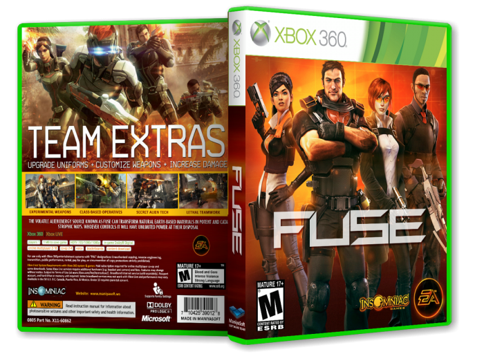 fuse xbox 360 box art cover by payam mazkouri