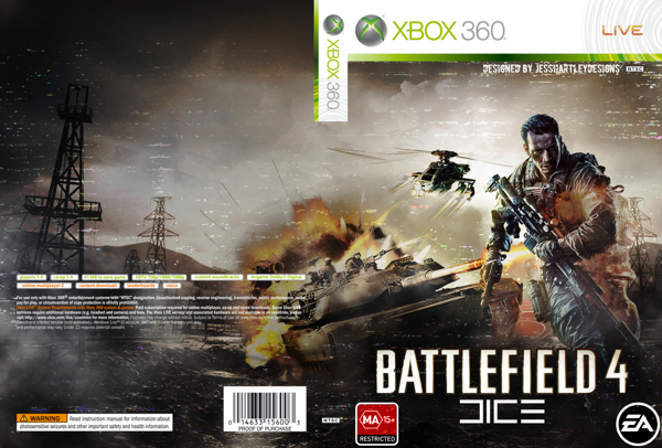 Battlefield 4 Xbox 360 Box Art Cover by jesshartley