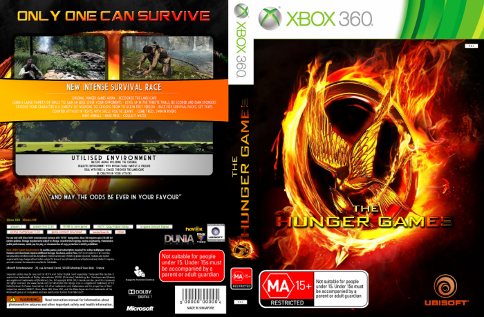 Xbox 360 Hunger Games : The hunger games xbox box art cover by pkmn