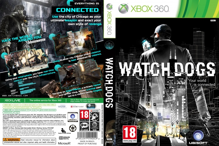 Watch Dogs Xbox 360 Box Art Cover by wellyson Watch Dogs Ps4 Box Art