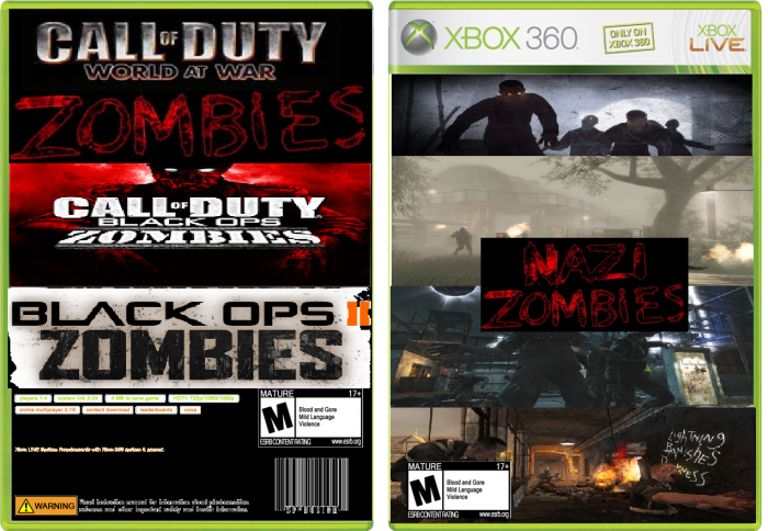 Zombie Games For Xbox 360 : Kdog coleman s nazi zombies game xbox box art cover