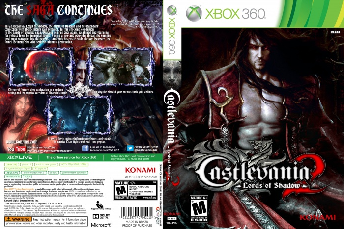 Castlevania Lords Of Shadow 2 Xbox 360 Box Art Cover By Wellyson