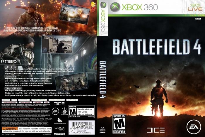 Battlefield 4 Xbox 360 Box Art Cover by xShineyThighx