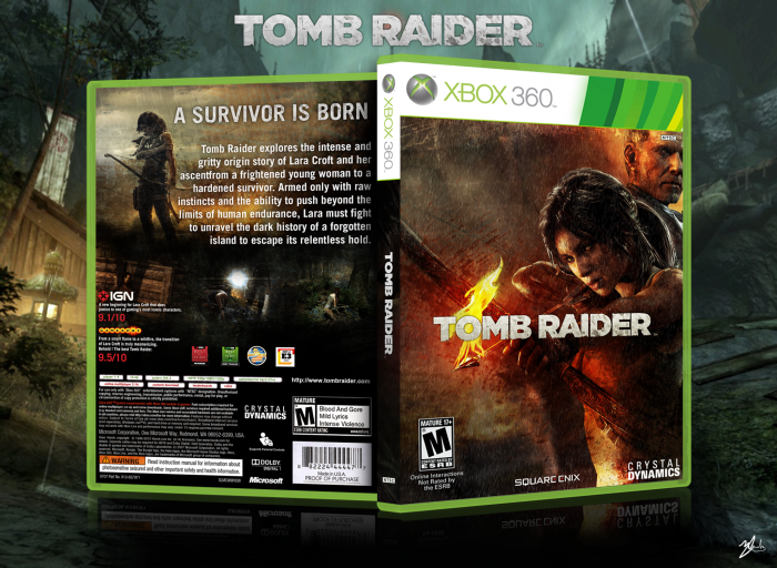Tomb Raider Xbox 360 Box Art Cover by Mackay