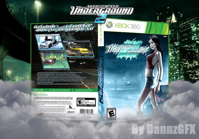Need For Speed Underground 2 Xbox 360 Box Art Cover By