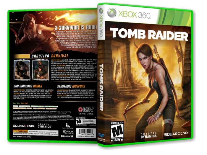 Tomb Raider Xbox 360 Box Art Cover by payam_mazkouri4