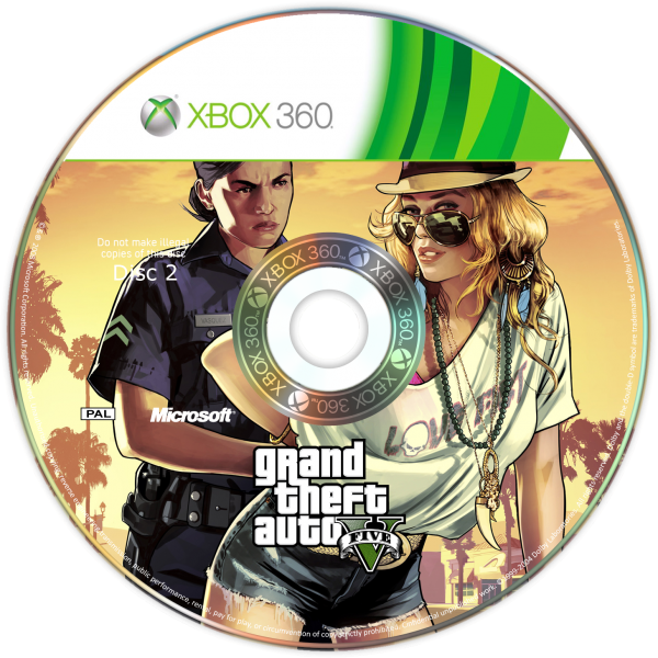 GTA V Disc 2 box art cover