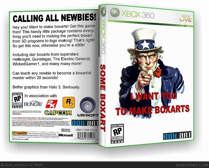 I Want You To Make Boxarts box cover